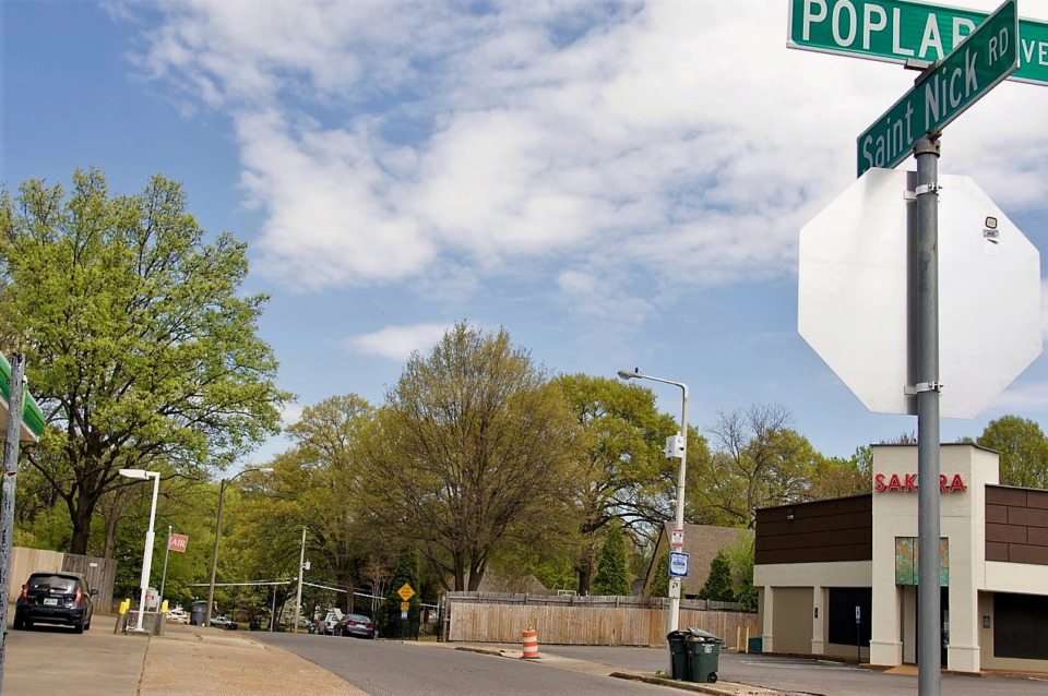 <strong>Some residents of Saint Nick wanted to gate their street 200 feet north of Poplar Avenue.</strong> (Tom Bailey/Daily Memphian)