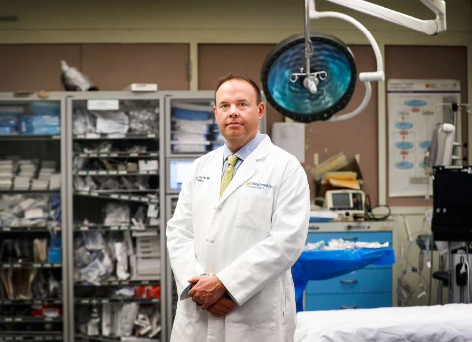 <strong>Dr. Peter Fischer, medical director at Regional One Health Medical Center, said normally the number of gunshot wounds that staff treat in the trauma center begins to rise with spring and summer temperatures.&nbsp;&ldquo;Gunshot wounds used to be late at night, most often on Friday and Saturday night,&rdquo; he said. &ldquo;Now, they&rsquo;re throughout the entire day.&rdquo;</strong>&nbsp;(Mark Weber/Daily Memphian)