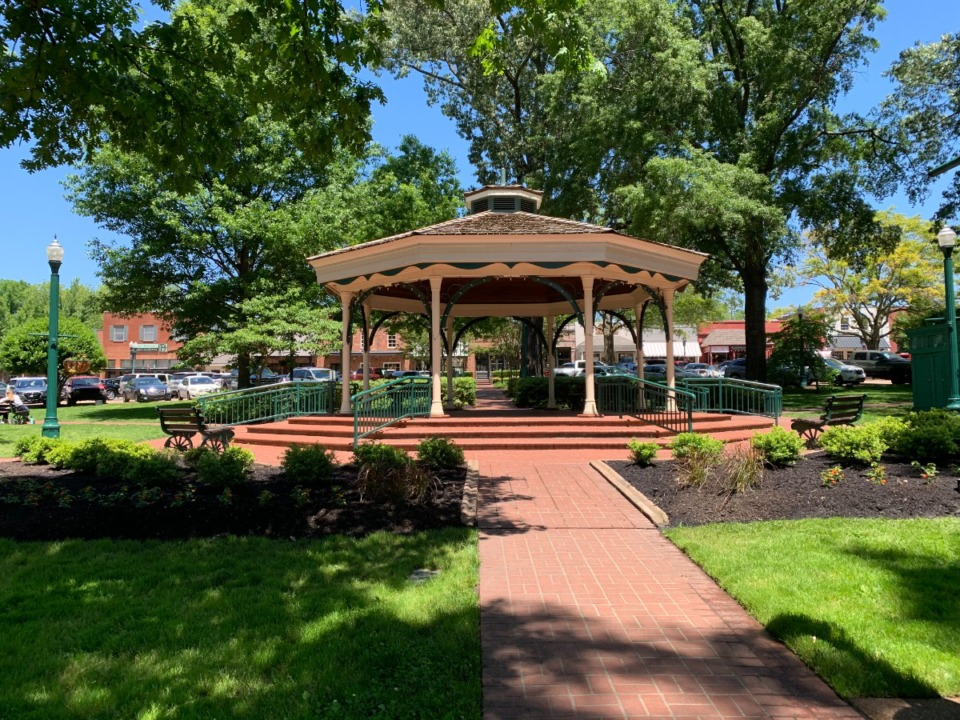 <strong>Collierville&rsquo;s Town Square Park will be sodded the week of May 17. Residents are asked to stay off the grass as it will be heavily watered and soft.</strong> (Abigail Warren/The Daily Memphian)