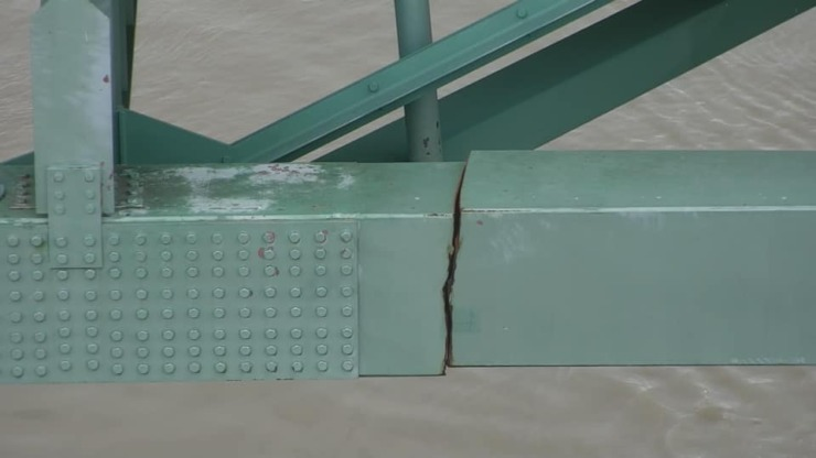 The Hernando DeSoto Bridge may have been damaged since 2019. (Courtesy Tennessee Department of Transportation)
