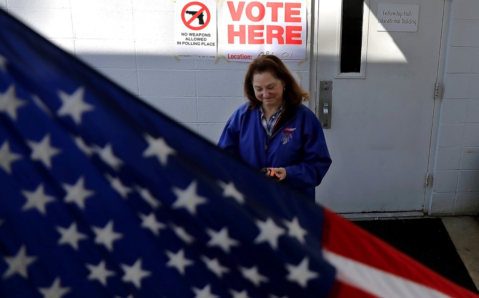 <strong>Susan Boyd exits the polls at Arlington United Methodist Church Thursday, Jan. 24, 2019, after voting in the Tennessee state Senate District 32 special election. Covington businessman Paul Rose won the GOP primary and will face Democratic nominee Eric Coleman.</strong> (Patrick Lantrip/Daily Memphian)