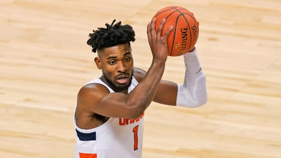 <strong>Former Syracuse forward Quincy Guerrier will announce his transfer decision Thursday, and Memphis is in the mix.</strong> (Gerry Broome/AP)