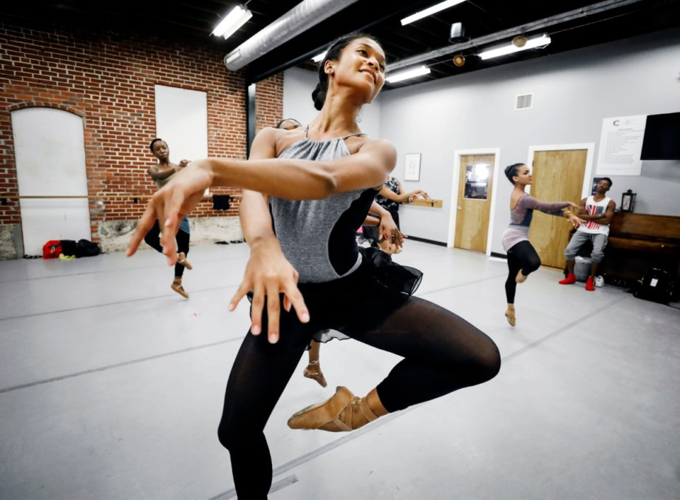 <strong>Kimberley Ho-Tsai rehearses at the Collage Dance Collective on Broad Avenue in 2019. Collage received a $150,000 grant for its capital campaign from First Horizon.</strong>&nbsp;(Mark Weber/Daily Memphian)