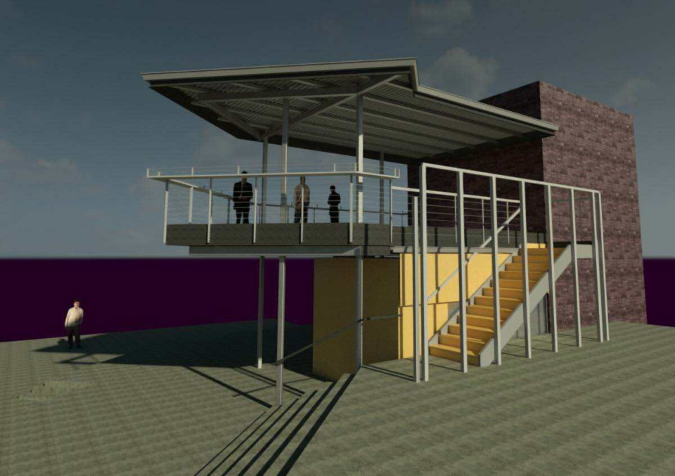<strong>A rendering shows the proposed&nbsp;&ldquo;Skydeck&rdquo; from Ghost River Brewery on Beale Street.</strong> (Courtesy DMC)