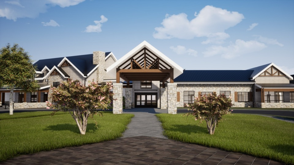 <strong>A rendering displays the entrance for the proposed West Tennessee Veterans Home.</strong> (Submitted)
