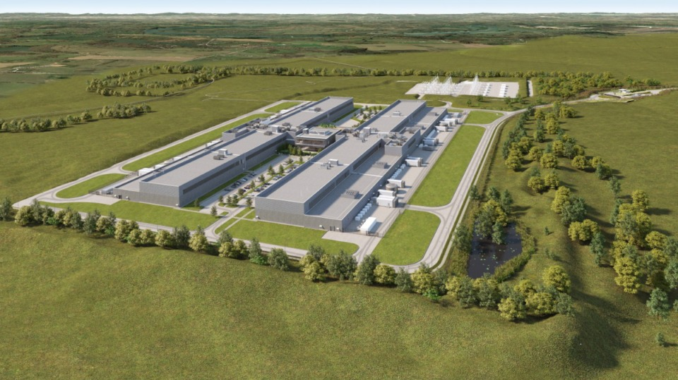 <strong>A rendering of Facebook&rsquo;s $800 million Gallatin data center that will cover nearly 1 million square feet.</strong> (Courtesy TVA)