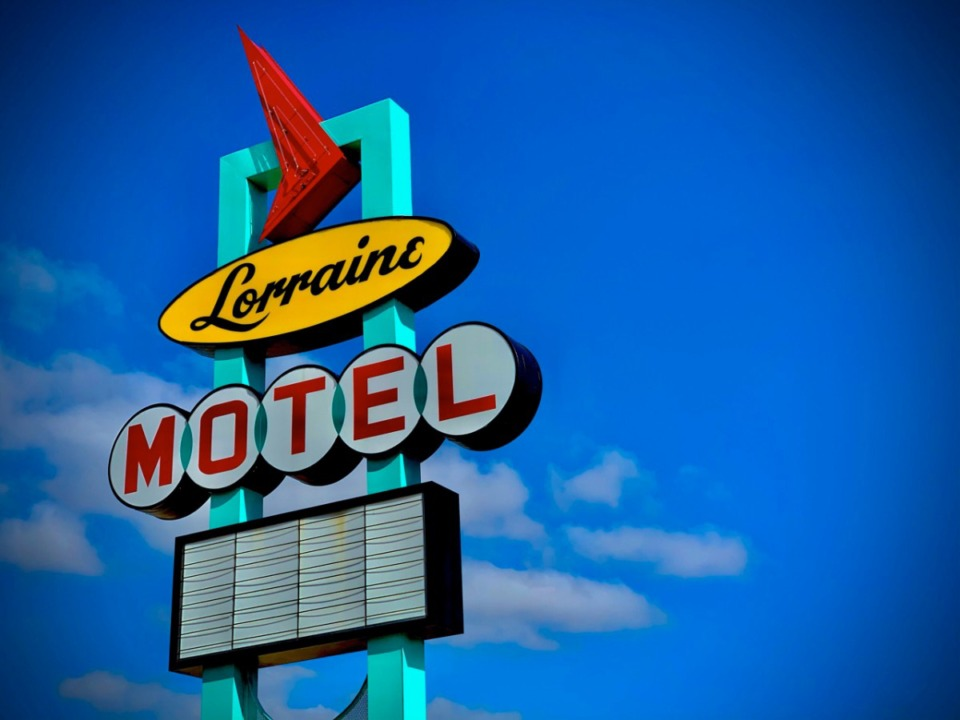 """<div><strong>Emeri Thurman captured the photo of the Lorraine Motel sign against the blue sky with a few faint clouds. The Whitehaven High School senior won third place for photography</strong>&nbsp;<strong>in Memphis International Airport's """"Arts in the Airport"""" contest.&nbsp;</strong></div>"""