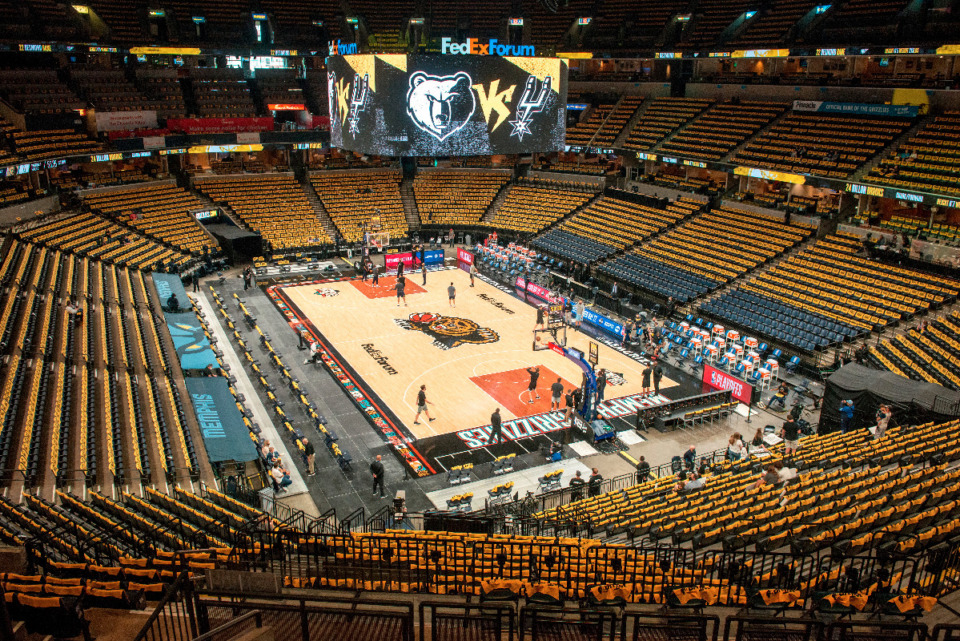 <strong>The Memphis Grizzlies announced Sunday that they will increase fan capacity at FedExForum for first-round NBA playoff games against Utah.</strong> (AP Photo/Brandon Dill file)