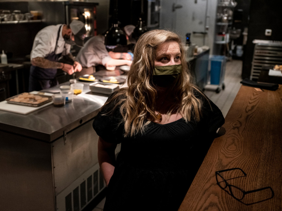 <strong>Chef Dave Krog (left) and Amanda Krog will host a wine dinner Tuesday, May 25 at Dory, their restaurant on Brookhaven Circle in East Memphis.</strong> (Brad Vest/Daily Memphian file)
