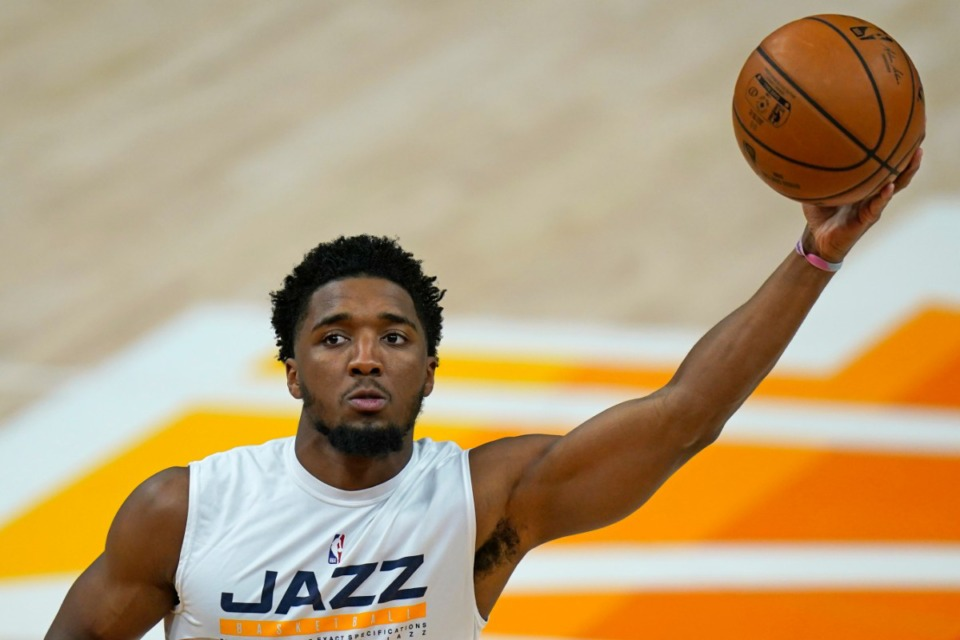 <strong>Utah Jazz guard Donovan Mitchell is expected to be out for Game 1.</strong> (AP Photo/Rick Bowmer)