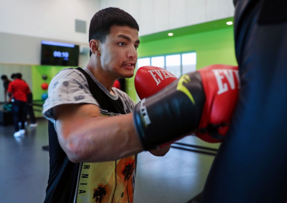<strong>There&rsquo;s a place to practice boxing moves at Youth Villages&rsquo; Bower Activity Center.</strong> (Patrick Lantrip/Daily Memphian)