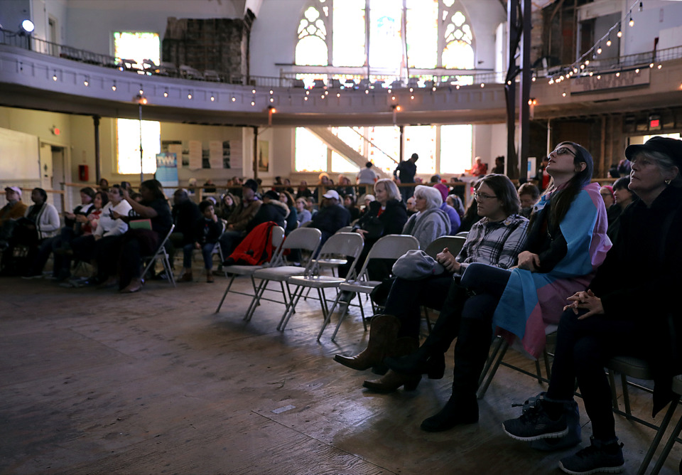 <strong>A week after the Memphis Women&rsquo;s March, a dozen organizations rallied at Clayborn Temple Saturday, Jan. 26, 2019, to discuss a broad range of women's issues, including health and reproductive rights, equality, education and election reform.</strong> (Patrick Lantrip/Daily Memphian)