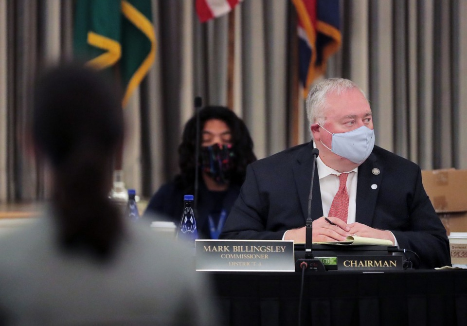 <strong>Shelby County Commission Chairman Mark Billingsley addresses the commission in a May 2020 meeting at the Peabody Hotel Grand Ball Room. Billingsley didn&rsquo;t vote on the critical race theory bill.</strong>&nbsp;(Patrick Lantrip/Daily Memphian file)