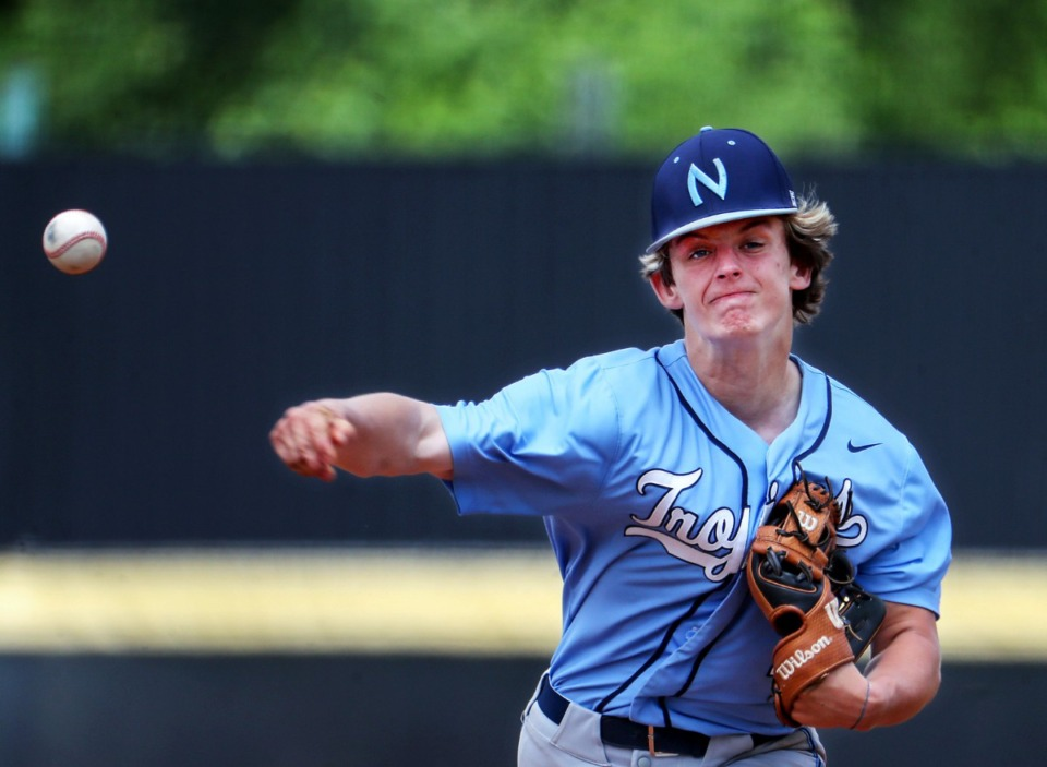 <strong>Northpoint Christian School pitcher Jack Staples (2) throws the ball during a May 26, 2021 game against Tipton-Rosemark Academy in Murfreesboro, Tennessee.</strong>(Patrick Lantrip/Daily Memphian)
