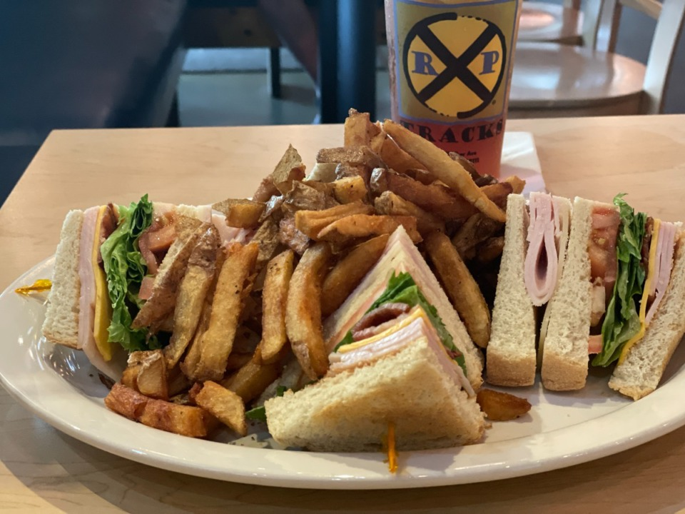 <strong>The turkey club sandwich at RP Tracks is good, but the french fries are tops.</strong> (Jennifer Biggs: Daily Memphian)