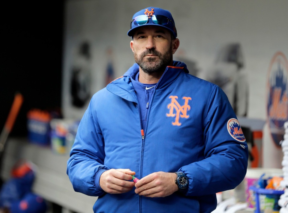 <strong>In this Sunday, April 28, 2019, file photo, then-New York Mets manager Mickey Callaway stands by the dugout before a baseball game against the Milwaukee Brewers at Citi Field, in New York. Former New York Mets manager Mickey Callaway was suspended by Major League Baseball on Wednesday, May 26, 2021, through at least the end of the 2022 season following an investigation of sexual harassment allegations.</strong> (Seth Wenig/AP File)