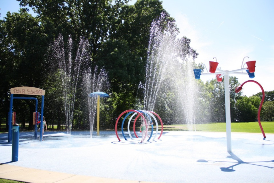 <strong>Suggs Park&rsquo;s splash pad is open. No pass is needed, but large groups are asked to contact the Parks and Recreation office. </strong>(Courtesy of Town of Collierville)&nbsp;