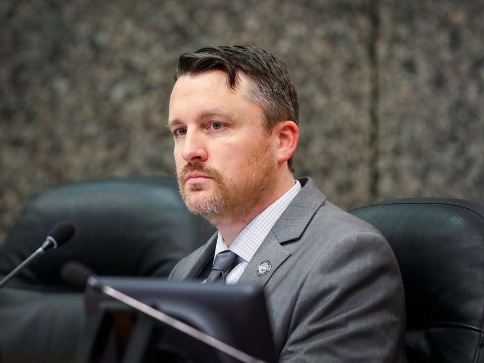 <strong>Shelby County Commissioner Mick Wright (in a file photo) asked lots of questions before ultimately joining those who voted yes on the resolution urging Gov. Bill Lee to veto the bill banning public schools from teaching critical race theory.</strong>&nbsp;(Mark Weber/Daily Memphian)