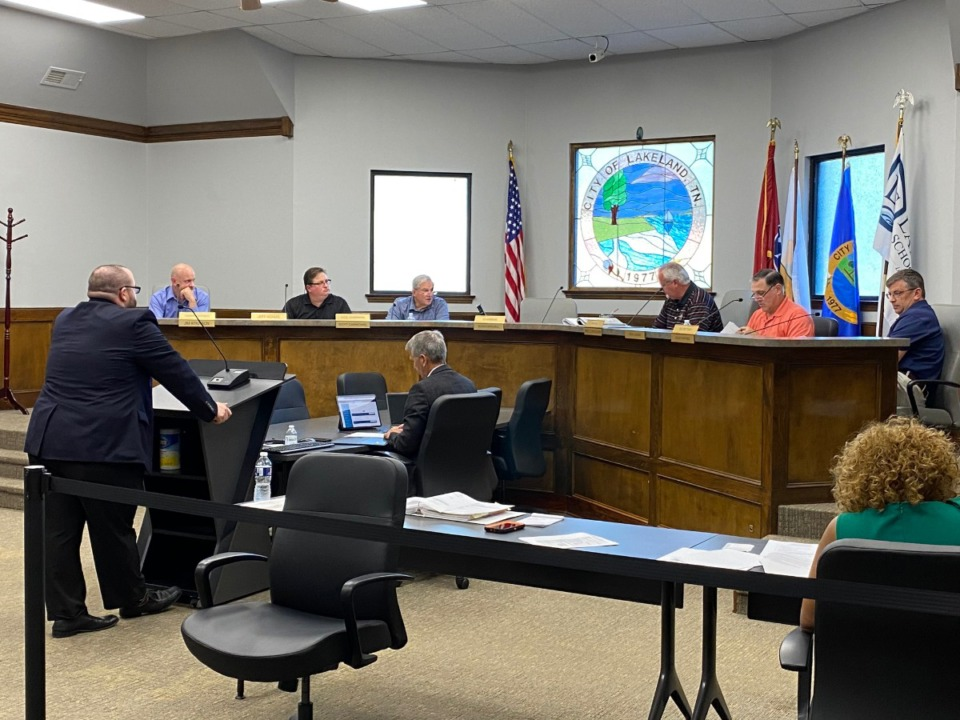 <strong>Lakeland Planning Commission/Design Review Board secretary Clint Starnes announced at the Thursday, May 27, 2021 that he was stepping down.</strong> (Michael Waddell/Special to Daily Memphian)