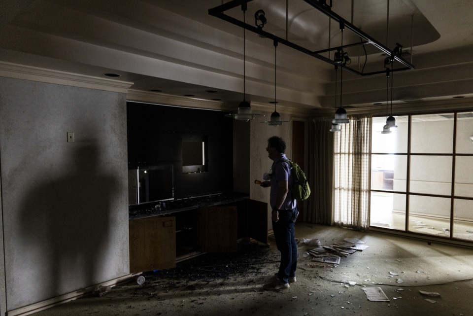 <strong>&ldquo;There&rsquo;s a surprise around every corner,&rdquo; Brett Roler, vice president planning &amp; of development for the Downtown Memphis Commission, said of the vacant 100 North Main Building.</strong> (Brad Vest/Special to the Daily Memphian)