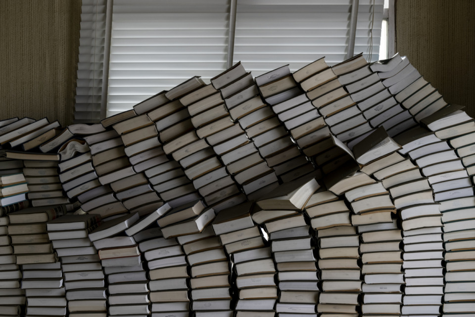 <strong>A tour of the vacant 100 North Main tower on Sunday, May 30, revealed that law firm offices left behind hundreds of law books. </strong>(Brad Vest/Special to the Daily Memphian)