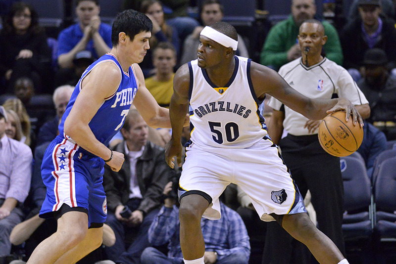 <strong>Memphis Grizzlies forward Zach Randolph (50) will be at tonight&rsquo;s playoff game with Utah. </strong>(AP Photo/Brandon Dill file)