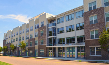 <strong>The 435-bed Gather on Southern was built in 2014 by Dallas-based Rael Development Corp. The University of Memphis wants to acquire the privately owned apartment building to expand student housing without taking on too much debt.</strong> (Daily Memphian file)