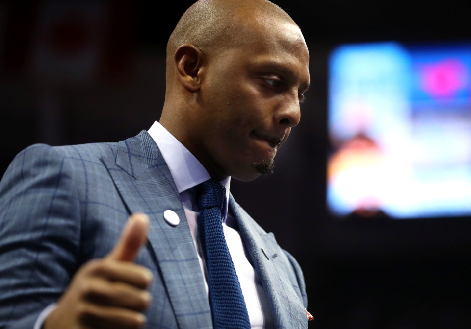 "<strong>Memphis coach Penny Hardaway says he has a target on his back from other coaches, but, ""I'm not here to ruffle any feathers. I'm here to win.""</strong> (Houston Cofield/Daily Memphian)"