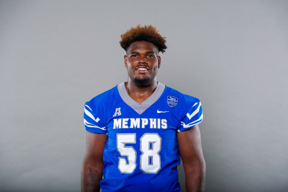 <strong>Memphis reserve offensive lineman Brian Thomas has entered the transfer porta</strong>l. (Submitted)