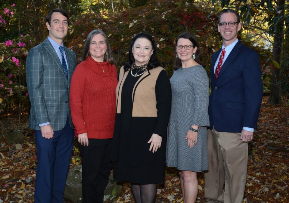 <strong>Germantown School Board members are (left to right) Ryan Strain, chairperson Amy Eoff, vice-chairperson Betsy Landers , Angela Griffith and Brian Curry.</strong> (Submitted photo)