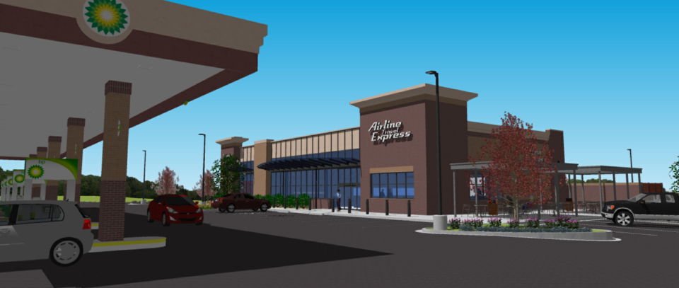 <strong>An Arlington Arline Travel Express rendering.</strong> (Credit: McGehee Nicholson Burke Architects)