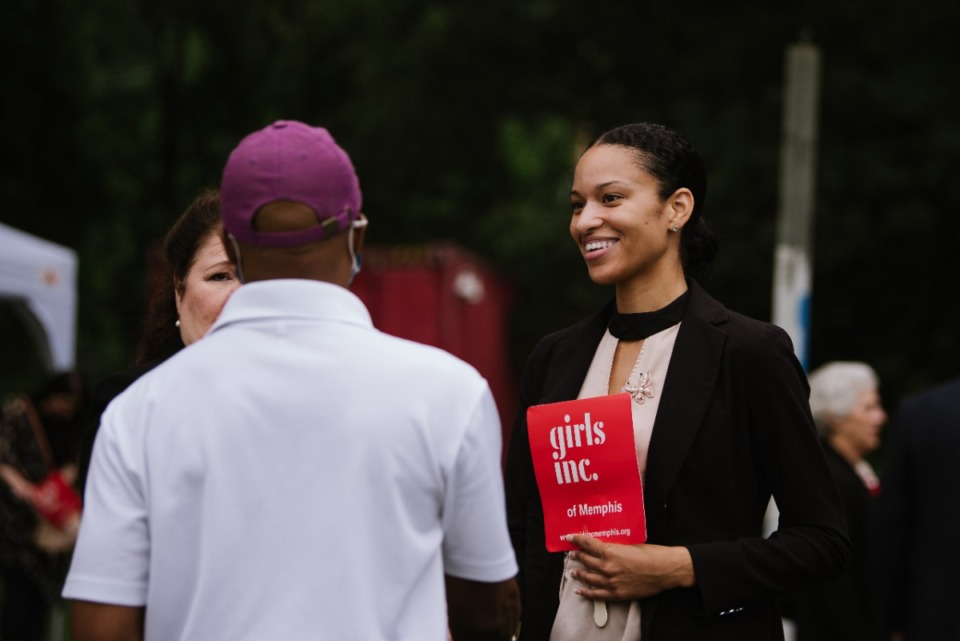 <strong>Supporters of Girls Inc. of Memphis greet and chat with each other ahead of the groundbreaking ceremony. Thursday, Jun. 10th, 2021.</strong> (Lucy Garrett/Special to the Daily Memphian)
