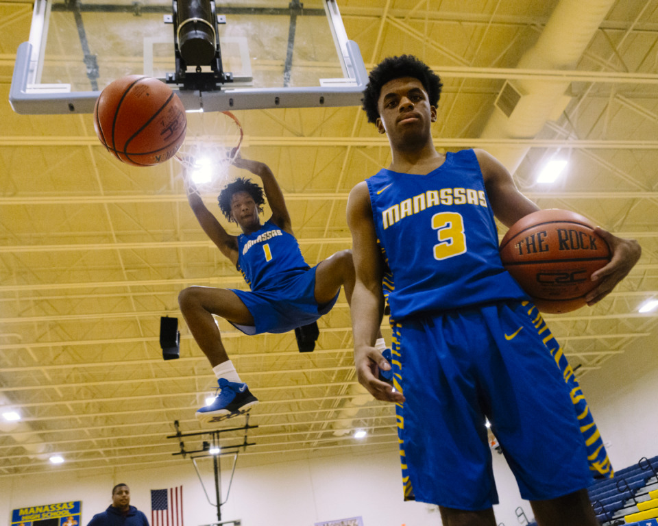 <strong>Manassas High's Catthadious Moore (1) and Jalen Robinson (3) are two of the more unlikely senior standouts in Memphis, but the pair have the Tigers at 17-3 with the Class A playoffs right around the corner.&nbsp;</strong>(Ziggy Mack/Special to The Daily Memphian)