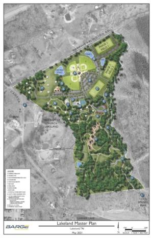 <strong>A rendering shows the first draft of the Lakeland athletic complex master plan from overhead.</strong> (Submitted)