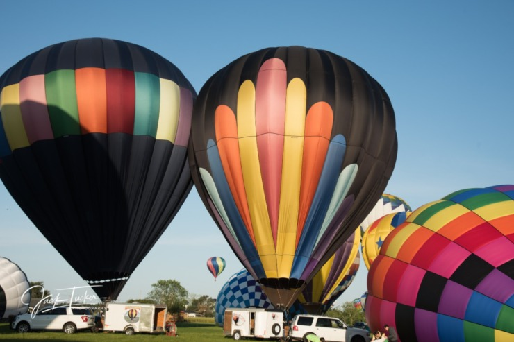 The inaugural Bluff City Balloon Jamboree was delayed by a year due to COVID. (Photo by Jack Tucker/courtesy Ewing Marketing Partners)