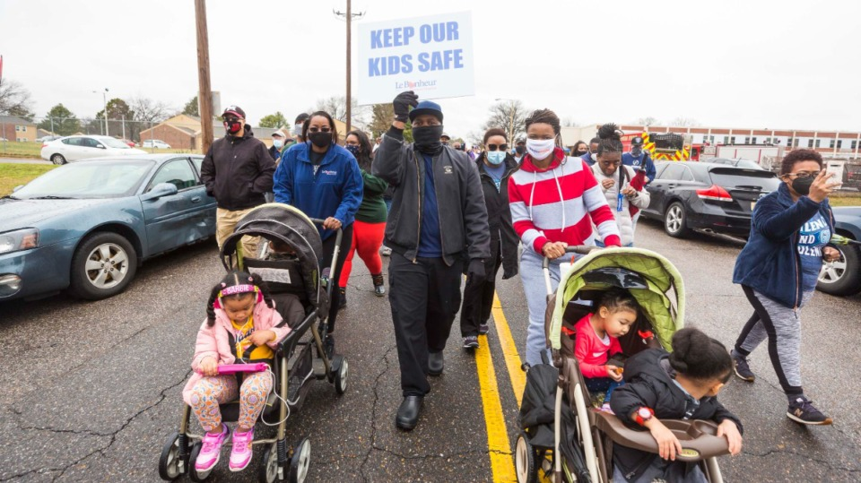 <strong>Hilcrest High School in Whitehaven was the site of the Unity Walk against Violence on Feb. 27.</strong> (Ziggy Mack/Special to The Daily Memphian)