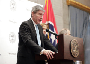 <strong>Tennessee Economic and Community Development Commissioner Bob Rolfe said Helen of Troy&rsquo;s new fulfillment center&rsquo;s 350 jobs will make it among the top three employers in Fayette County.</strong> (AP File Photo/Mark Humphrey)