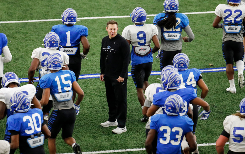 <strong>Coach Ryan Silverfield (in file photo) and the Memphis football program received a commitment Saturday from a three-star linebacker. </strong>(Mark Weber/The Daily Memphian file)