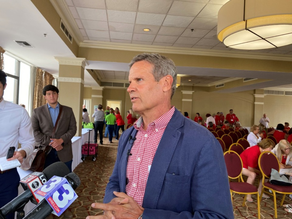 <strong>&ldquo;They stop people that they believe are breaking the law and carrying a firearm, of course, is not breaking the law,&rdquo; Tennessee Gov. Bill Lee said Friday, June 25, in Memphis when asked about the impact of the state&rsquo;s open carry law on basic police procedures.</strong> (Daily Memphian/Bill Dries)