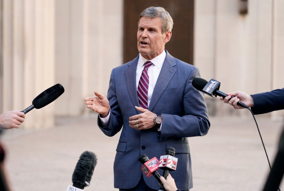 <strong>Tennessee Gov. Bill Lee (in a file photo) continues to issue executive orders and mayors in Shelby County have followed his direction by issuing locally oriented orders.</strong>&nbsp;(AP file)