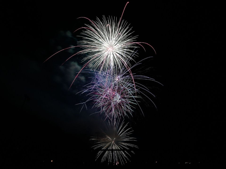 <strong>The Collierville fireworks put an exclamation on the town&rsquo;s Independence Day celebration Saturday, July 3 at H.W. Cox Park.</strong> (Patrick Lantrip/Daily Memphian)