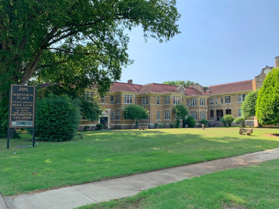 <strong>The Overton Park Court Apartments, now known as the Park Lane Apartments, have been added to the National Register of Historic Places.</strong> (Elle Perry/Daily Memphian)