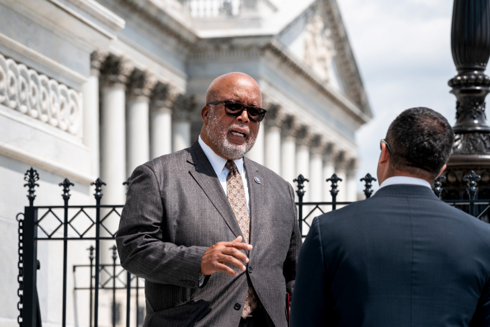 <strong>Rep. Bennie Thompson of Mississippi, seen here on July 1, will chair the House Select Committee to investigate the violent Jan. 6 insurrection at the U.S. Capitol that was aimed at trying to overturn the 2020 presidential election.</strong> (AP file)