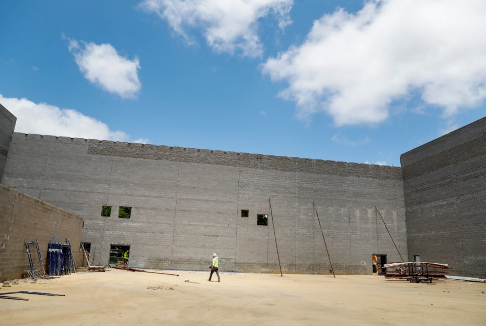 <strong>Construction continues on the new Lakeland high school buildings on Wednesday, July 7, 2021.</strong> (Mark Weber/The Daily Memphian)