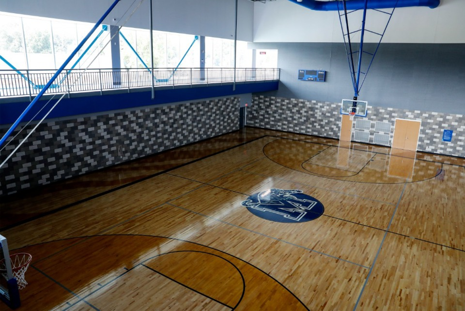 <strong>The new R. Brad Martin Student Wellness Center at the University of Memphis includes a basketball court.</strong> (Mark Weber/Daily Memphian)