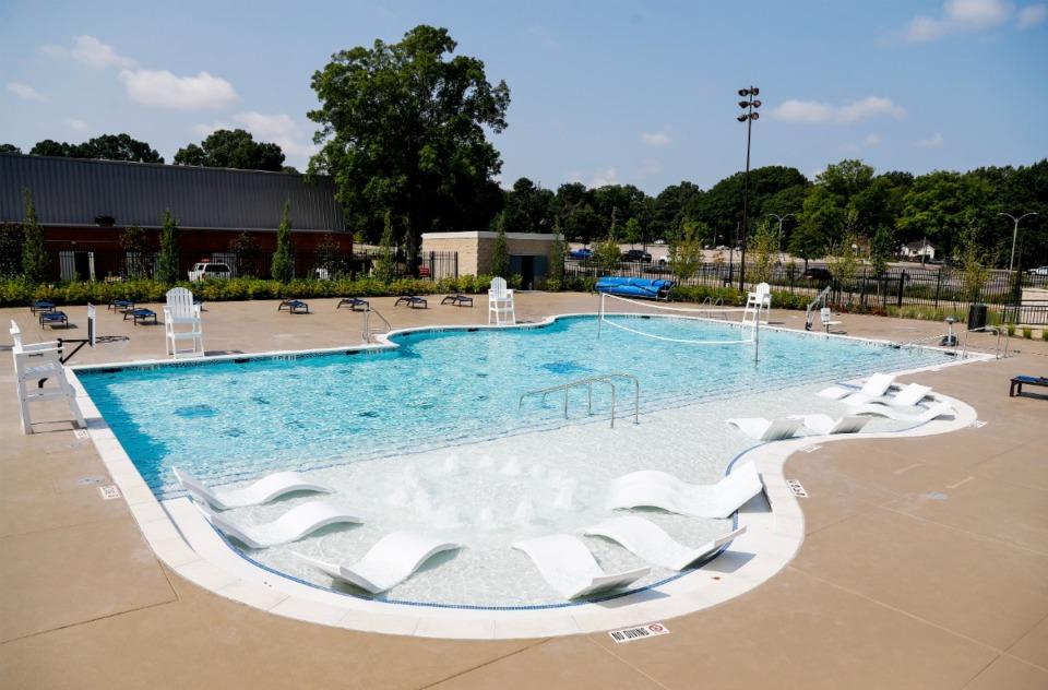 <strong>The $31 million wellness facility includes an outdoor pool.</strong> (Mark Weber/Daily Memphian)