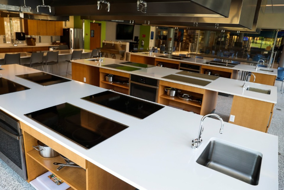 <strong>The Tiger Food Lab includes teaching kitchens.</strong> (Mark Weber/Daily Memphian)