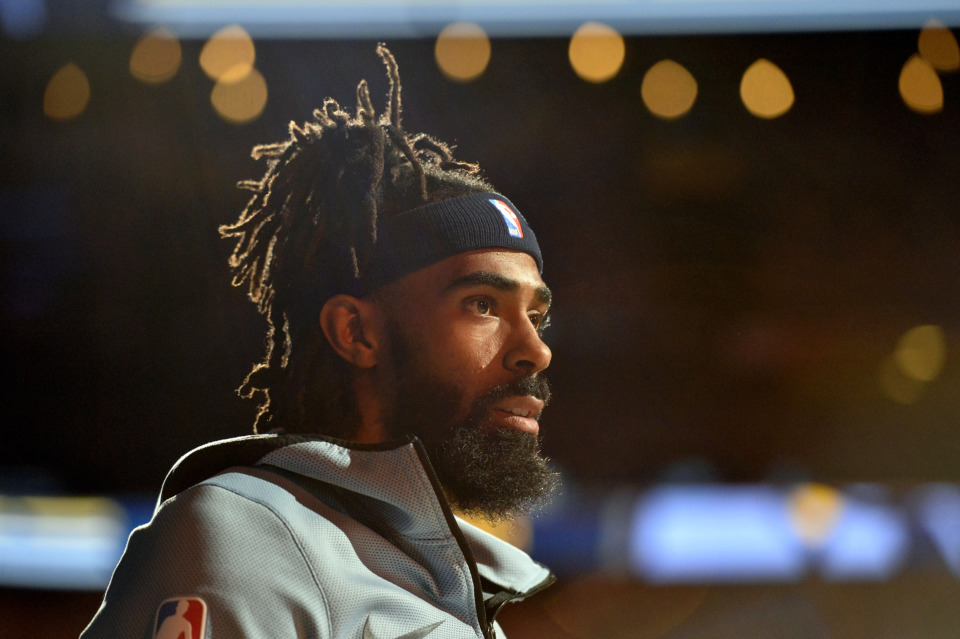 <span><strong>Memphis Grizzlies guard Mike Conley stands on the court during player introductions before an NBA basketball game against the Indiana Pacers Saturday, Jan. 26, 2019, in Memphis, Tenn.</strong> (AP Photo/Brandon Dill)</span>