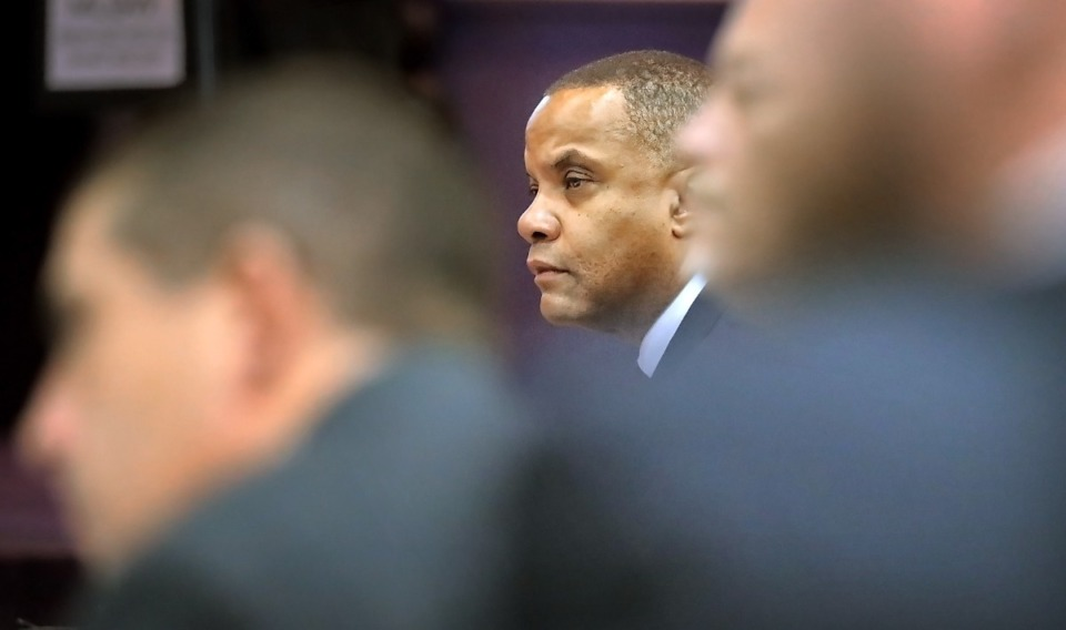 <strong>MLGW president and CEO J.T. Young during a meeting at Broad Avenue First Baptist Church on Feb 27, 2020.&nbsp;MLGW has begun the process of soliciting proposals for possibly cutting ties to the TVA.</strong> (Daily Memphian file)&nbsp;