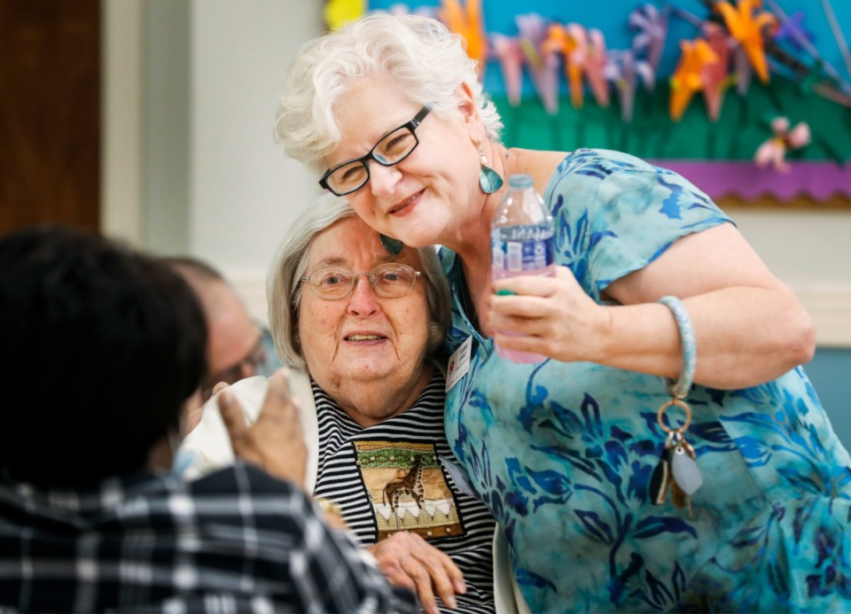 <strong>Herbie Krisle, (right) greets guests at&nbsp; Page Robbins Adult Day Care Center.</strong> (Mark Weber/The Daily Memphian)